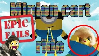 CART RIDE INTO THE MINION!!!! - Roblox Let's Play!