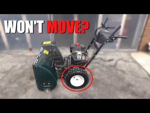 MTD Snowblower Doesn't Move - HOW to FIX!