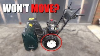 MTD Snowblower Doesn't Move  HOW to FIX!