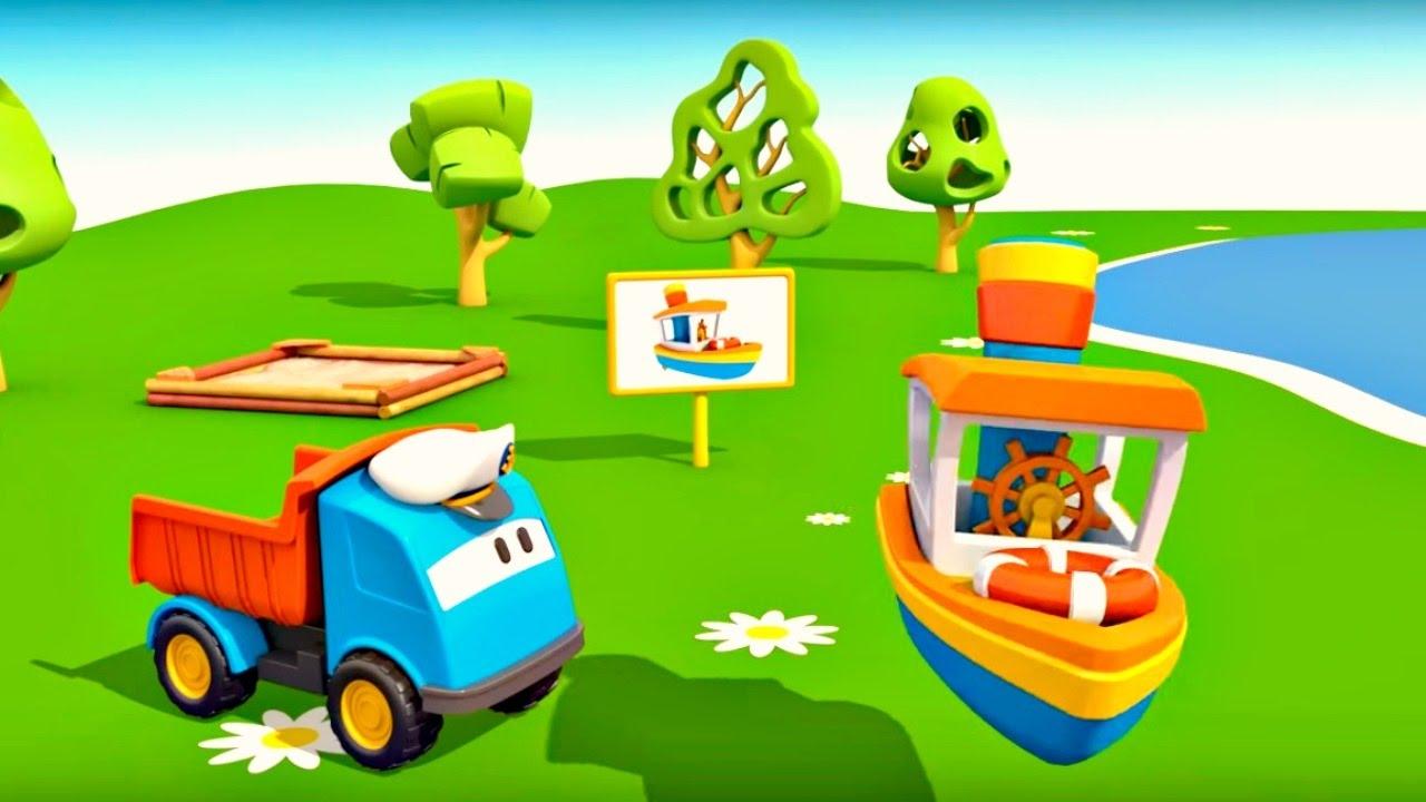 L o le camion curieux le bateau dessins anim s en - Leo le camion pompier ...