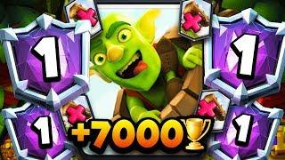 INSANE! 7,000+ TROPHIES w/ NEW LOG BAIT DECK | UNREAL GAMEPLAY!