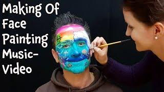 """Making Of Face Painting Video Clip """"Kleine Menschen auf der großen Erde"""" von DONIKKL"""