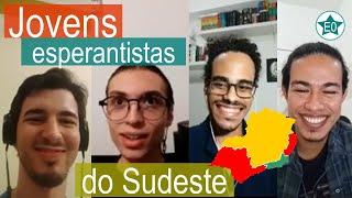 Jovens esperantistas do sudeste brasileiro! # Conversa Allan, Thiago e Lucca   Esperanto do ZERO!