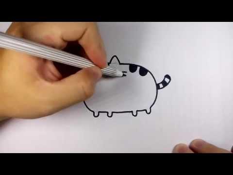 แมวอ้วน พูชิน pusheen the cat วาดการ์ตูน กันเถอะ สอนวาดรูป การ์ตูน
