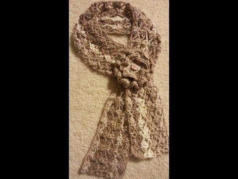 CROCHET How To #Crochet Trefoil Lace Stitch Scarf #TUTORIAL #140 LEARN CROCHET