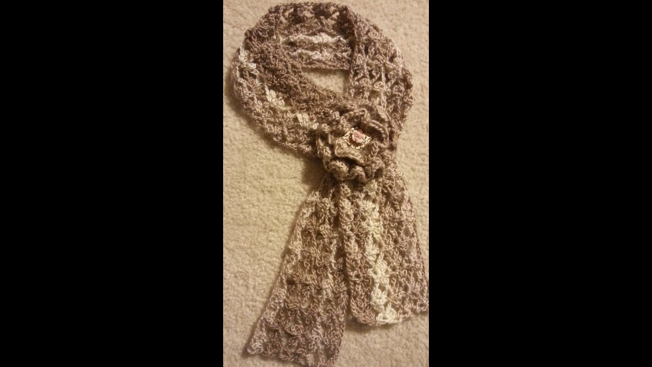 Lacy Crochet Stitches Youtube : ... How To #Crochet Trefoil Lace Stitch Scarf #TUTORIAL #140 - YouTube