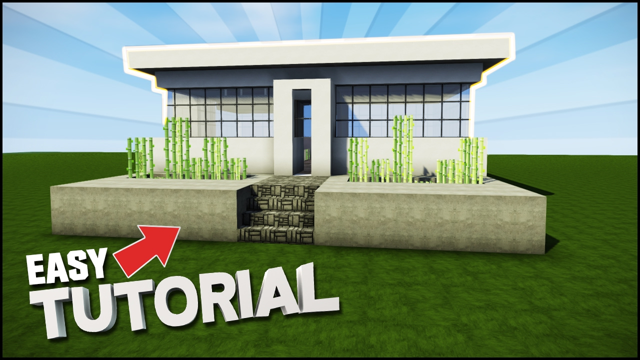 Minecraft house tutorial small easy modern house best house tutorial youtube