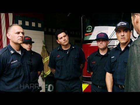 Harry Talks with Hoboken Firemen