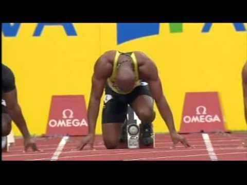 Asafa Powell sets to run in Birmingham UK - in 2012