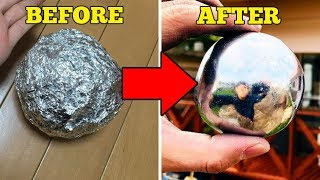 connectYoutube - How To Make Mirror-Polished Japanese Foil Ball - Easy DIY!!