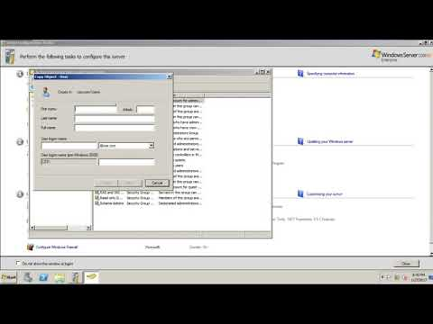 How To Create/Add Organizational Unit & User (Windows Server 2008 R2)