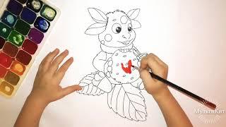 Лунтик. Рисуем Лунтика. Мультики про Лунтика. Детские мультфильмы.Лунтик - новые серии