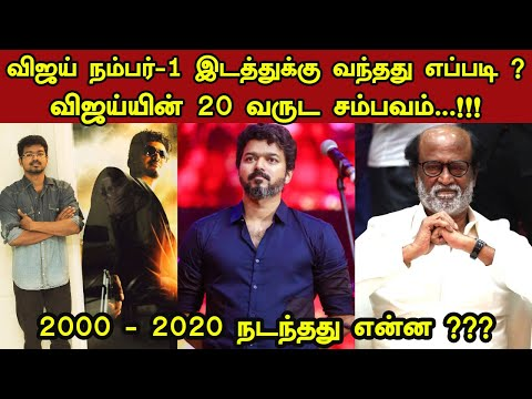 Vijay's Current Market | Vijay vs Rajini | 2000 To 2020 | Tamil Cinema | Kollywood News| Trendswood