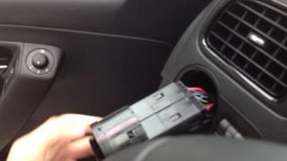 Как снять переключатель света с а/м Polo Sedan