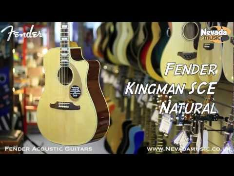Fender Kingman SCE Acoustic Guitar in Natural - Quick Look @ Nevada Music UK