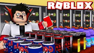 DRINKING 1 million REFRIGERANT IN Soda Simulator ROBLOX