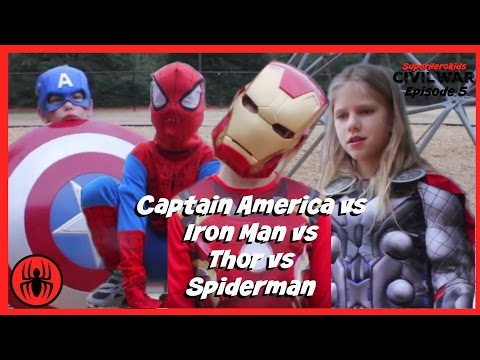 Little Heroes Captain America vs Iron Man In Real Life | Civil War Episode 5 | Superhero Kids Movie