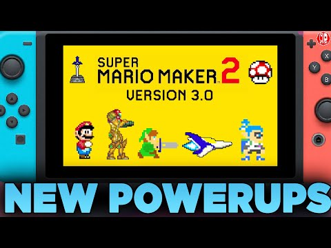 Metroid And Splatoon In Super Mario Maker 2?! Version 3.0 Update Speculation!