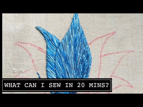Day 4 What Can I Sew in 20 Minutes? Lotus Flower. Hand Embroidery Online Class