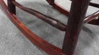 Amish Rustic Hickory Twig Hoop Rocking Chair (id:46736)