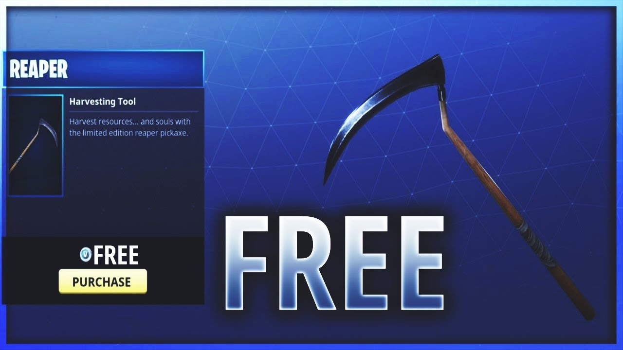 How to Get the REAPER PICKAXE in Fortnite FOR FREE! Get ...
