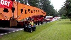1.9 Million lb generator move by Mammoet through Johnston, SC