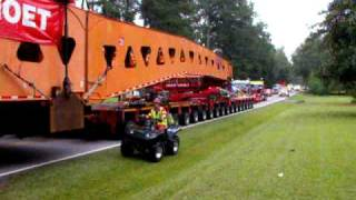 1.9 Million lb generator move by Mammoet through Johnston, SC