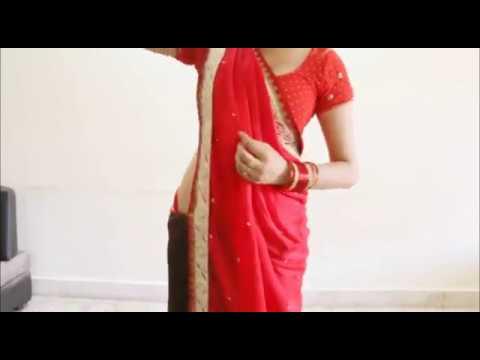 How To Wear Seedha Palla Saree:Stylist Gujrati Style Sari Draping For Garwa