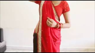 How To Wear Seedha Palla Saree:Stylist Gujrati Style Sari Draping For Garwa