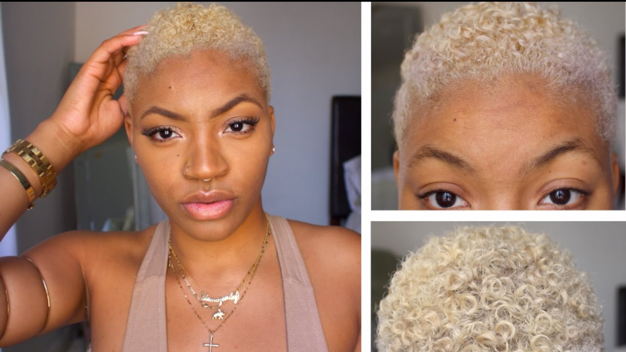 How To Bleach Natural Hair At Home Platinum Blonde