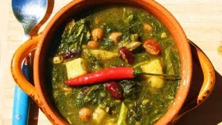 Jamaican Callaloo (amaranth) And Bean Soup.