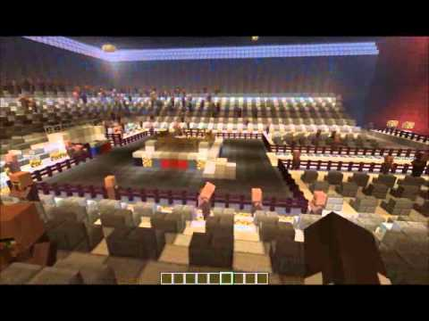 diamond minecart -  Minecraft WWE SmackDown, Raw Arena 2014