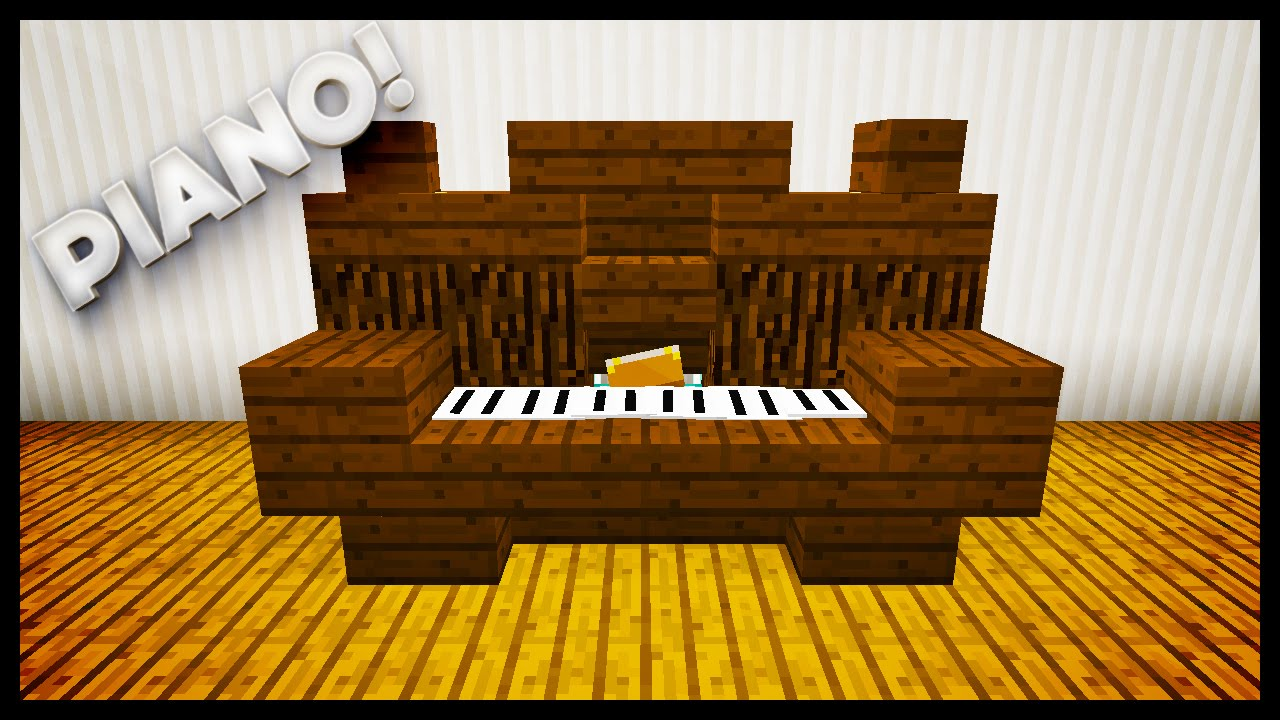 Minecraft how to make a piano youtube for Where to put a piano in a small house