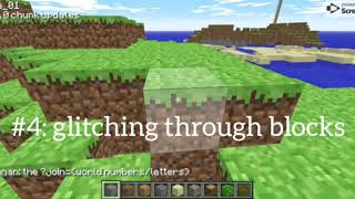 5 Glitches In Classic.minecraft.net