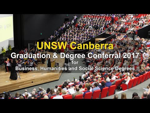 UNSW Canberra 2017 Graduation for Business, Humanities and Social Science