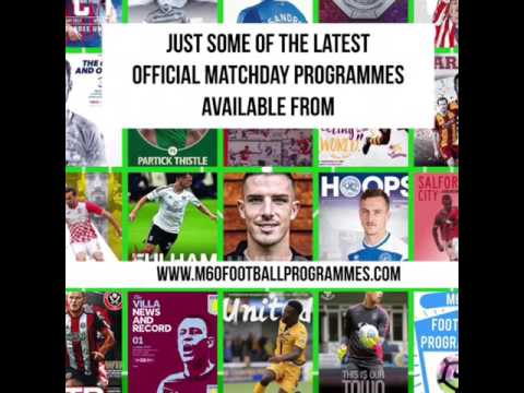 This weekends official matchday programmes available to order online from M60FOOTBALLPROGRAMMES.COM