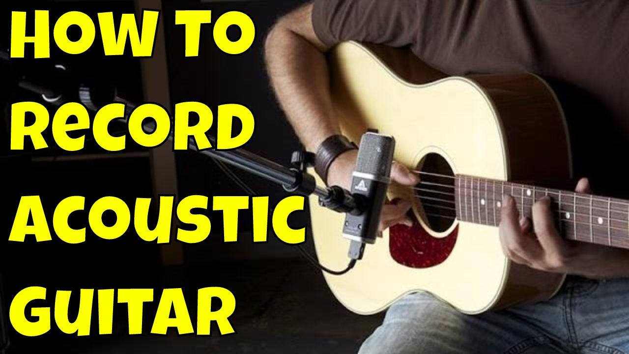 How to mic acoustic guitar - mic placement for acoustic guitar in the studio