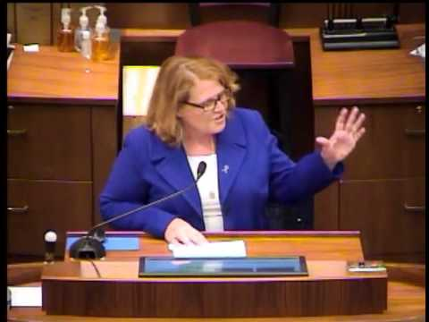 US Senator Heidi Heitkamp Speaks To North Dakota Legislature