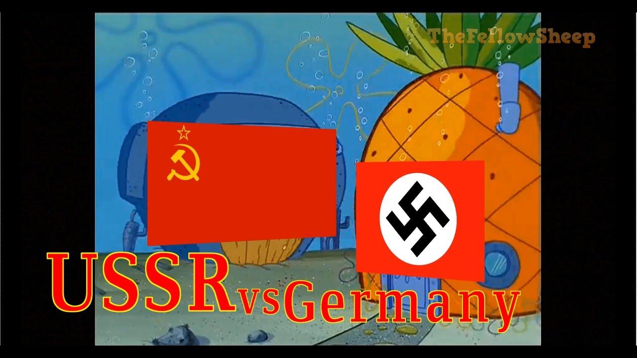 Ussr vs germany explained by spongebob