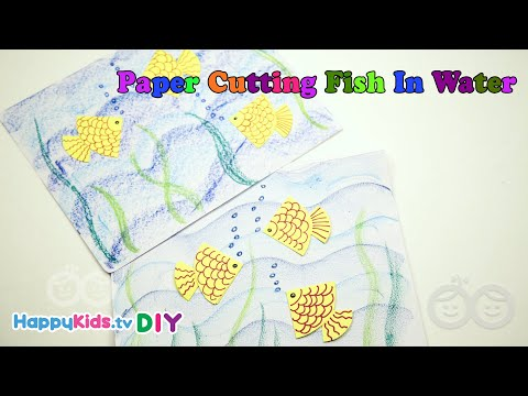 Paper Cutting Fish In Water | Paper Crafts | Kid's Crafts and Activities | Happykids DIY