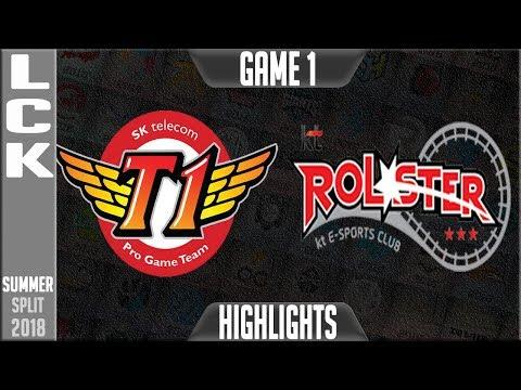 SKT vs KT Highlights Game 1 | LCK Summer 2018 Week 5 Day 3 | SK Telecom T1 vs KT Rolster