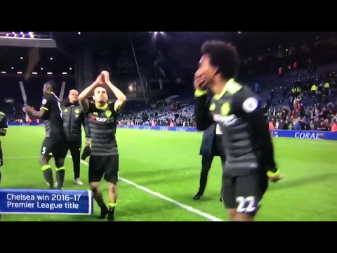 "Willian Singing ""He Hates Tottenham"". LMAO CHELSEA CHAMPIONS"