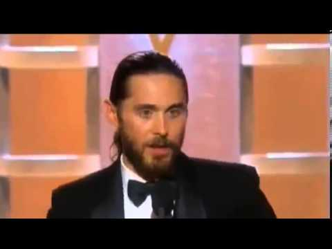 Jared Leto Wins Golden Globe Awards 2014 Acceptance Speech   Best Supporting Actor