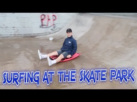 BOOGIE BOARDING AT THE SKATE PARK