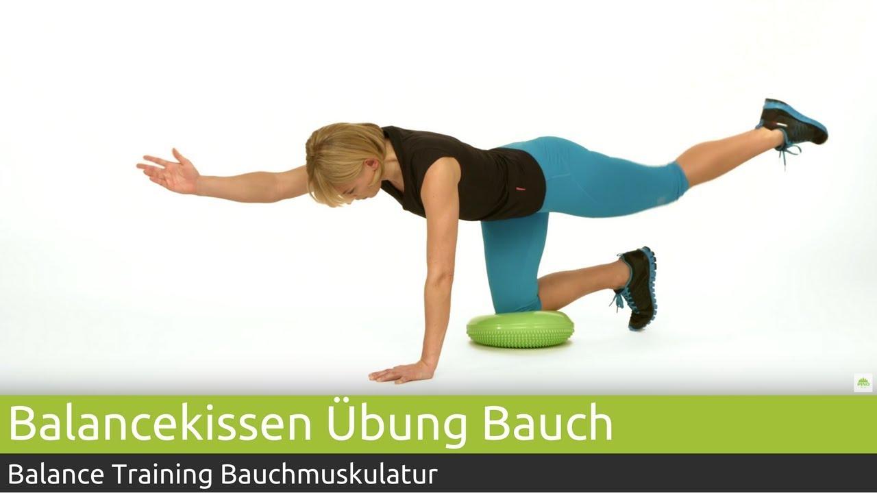 Balancekissen Training Bauch- und Rumpfmuskulatur Vierfüßlerstand ...