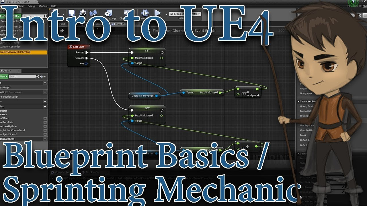 Intro to unreal engine 4 part 3 blueprint basics sprinting intro to unreal engine 4 part 3 blueprint basics sprinting mechanic malvernweather Images