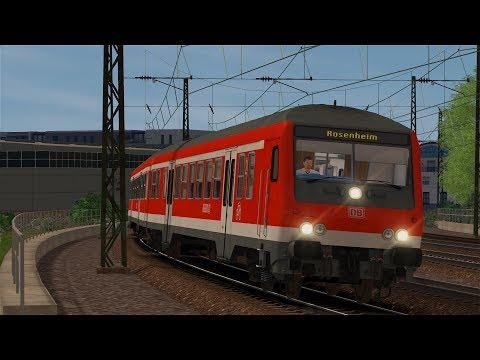 LET`S PLAY Train Simulator 2017 / RB30057 nach Rosenheim / DB Bnrbdzf / BR110 BF ExpertLine