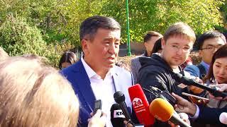 С. Жээнбеков проголосовал в школе гимназии №5   Шайлоо 2017
