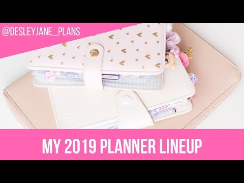 My 2019 Planner Lineup