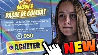 J'ACHETE LE PASSE DE COMBAT DE LA SAISON 6 SUR FORTNITE BATTLE ROYALE !!!
